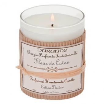 Bougie parfumée traditionnelle Fleur de Coton - Durance