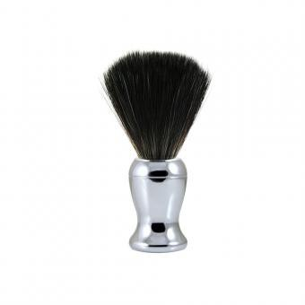 Edwin Jagger - 72 Range Shaving brush, black synthetic fibre, chrome plated - Rasoir & blaireau de rasage