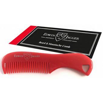 Peigne à Barbe & Moustache rouge - Edwin Jagger