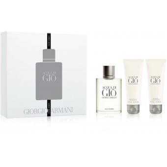 Coffret acqua di gio pour homme 100ml avec gel douche et baume apr s rasage offert giorgio - Coffret gel douche homme ...