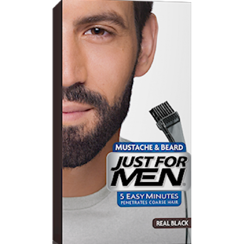 Just For Men - COLORATION BARBE Noir Naturel - Soins cheveux homme