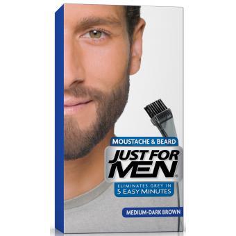 coloration barbe chtain moyen fonc couleur naturelle just for men - Coloration Chatain Fonc