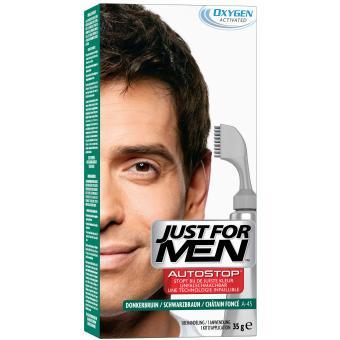 AUTOSTOP Châtain Foncé - Coloration Cheveux Homme - Just For Men