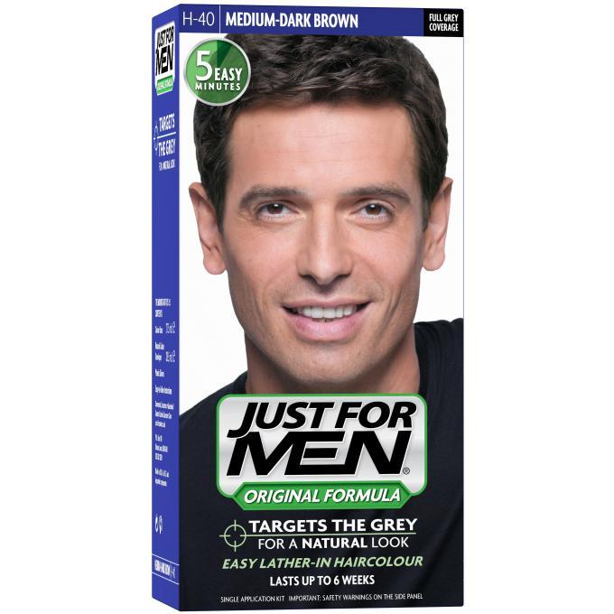 Coloration Cheveux Homme - Châtain Moyen Foncé Just For Men