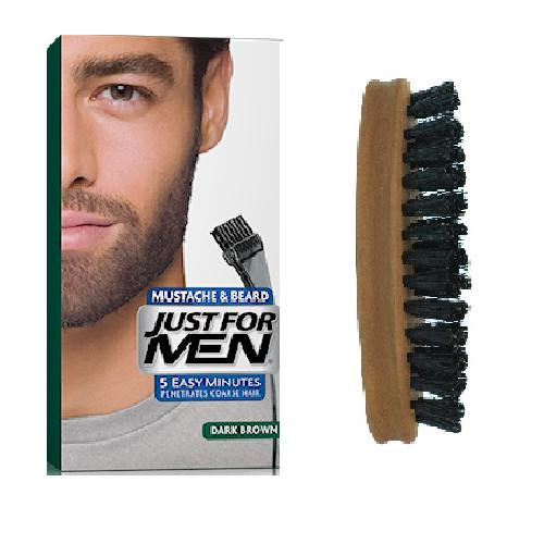 PACK COLORATION BARBE CHATAIN FONCE ET BROSSE À BARBE