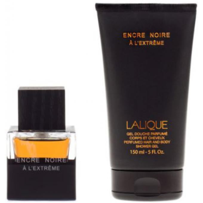 Coffret encre noire eau de parfum gel douche lalique parfum homme - Coffret gel douche homme ...