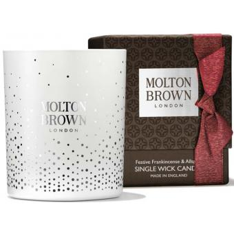 Molton Brown - FESTIVE FRANKINCENSE & ALLSPICE SINGLE WICK BOUGIE - Molton brown