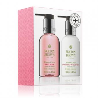 Mini Duo Soin des Mains Rhubarbe & Rose - Molton Brown