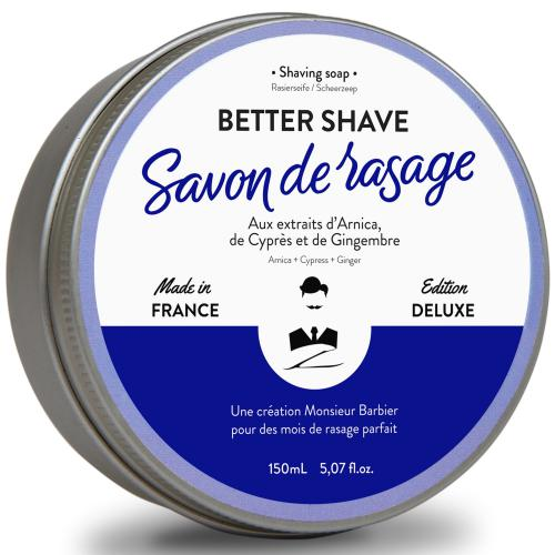 Monsieur Barbier - Savon de rasage traditionnel Better-Shave (arnica, cyprès, gingembre) - Rasage monsieur barbier