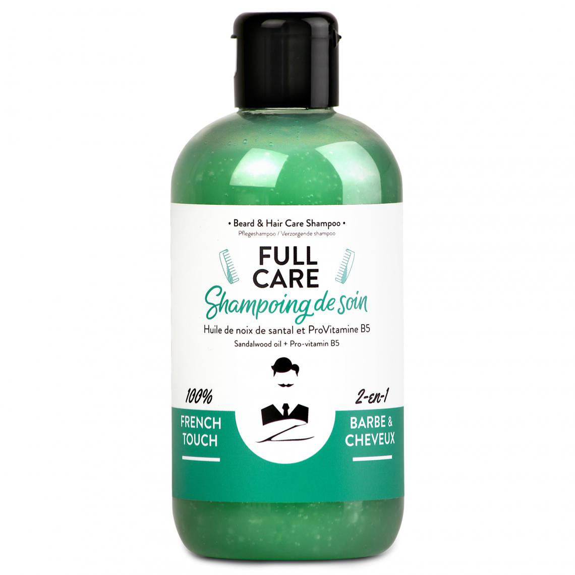 Shampoing naturel 2-en-1 barbe et cheveux Full Care (santal et pro-vitamine B5)