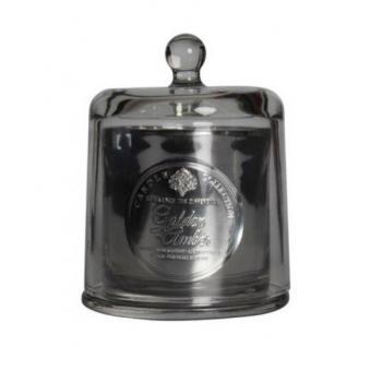 Bougie Noire Parfum Ambré Avec Cloche En Verre - Openenville
