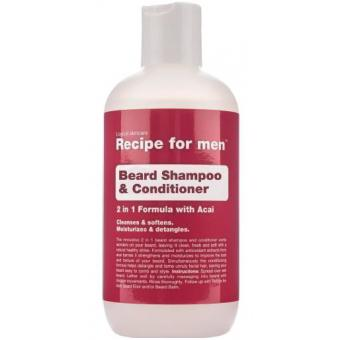 Recipe For Men - Shampooing à Barbe 2 en 1 - Après-shampoing & soin homme