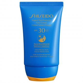 Shiseido - Crème Solaire Visage Shiseido SYNCHROSHIELD SPF30 - Soins solaires homme