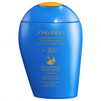 Shiseido - Lait Solaire Visage & Corps Shiseido SYNCHROSHIELD SPF 30+150 ML - Soins solaires homme